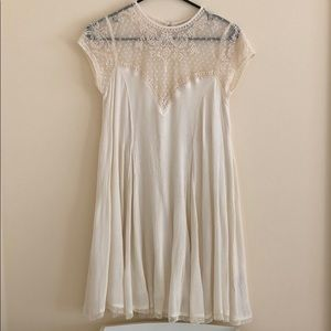 Urban Outfitters Cream Lace Dress